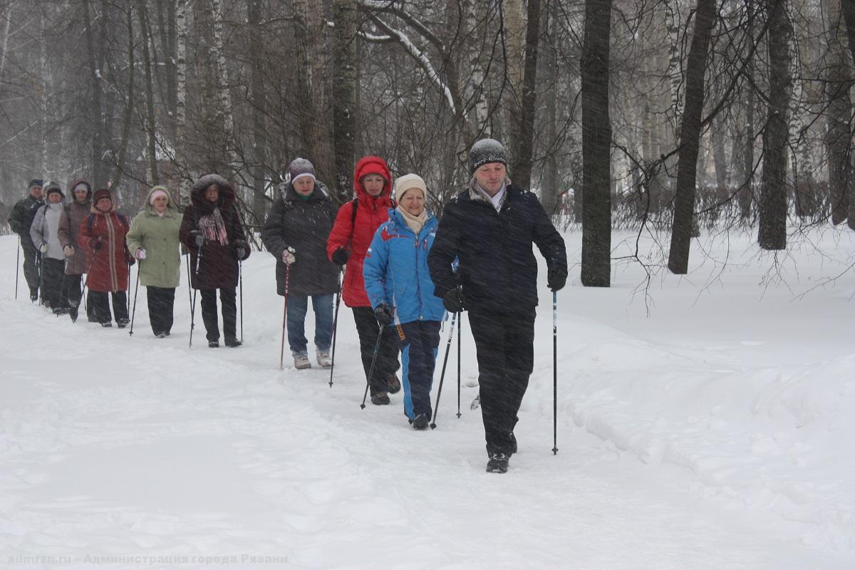 В Рязани популярность скандинавской ходьбы набирает обороты