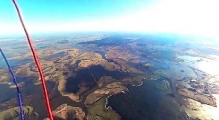 Воздухоплаватели сделали панорамный снимок разлива Оки