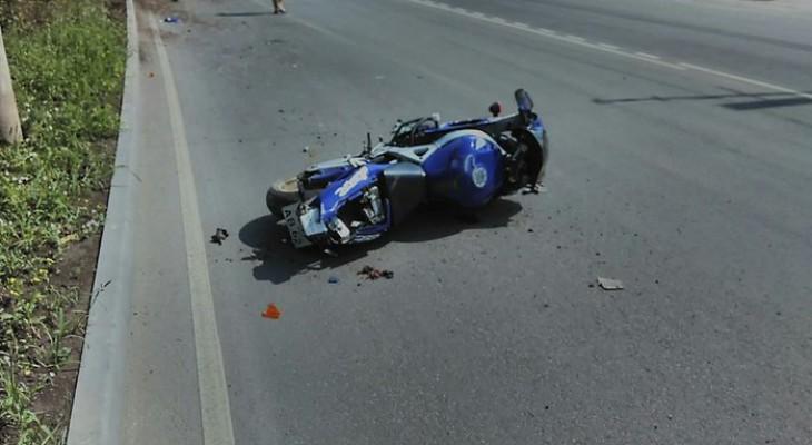 В Рязани прохожие спасли мотоциклиста