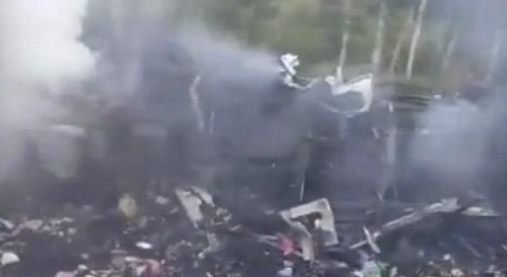 Очевидец: сгоревший автобус был перегружен багажом и товарами из Москвы
