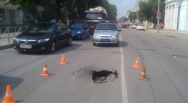 Автоэксперт: Асфальт в Рязани проваливается из-за проблем с водопроводом