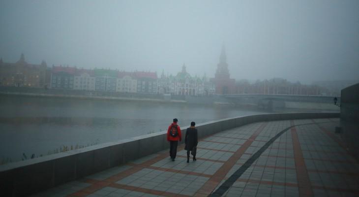 В среду в городе ожидается туман и дождь