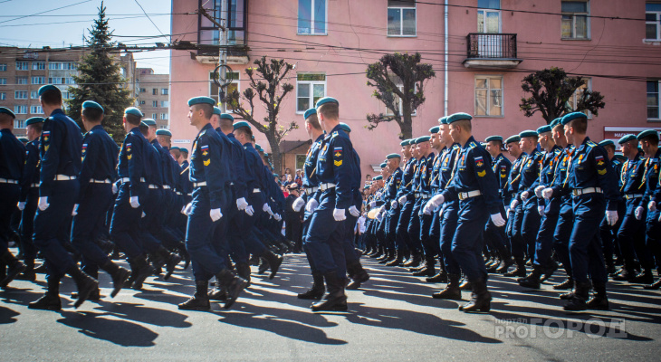 В Рязани прошёл торжественный Парад Победы