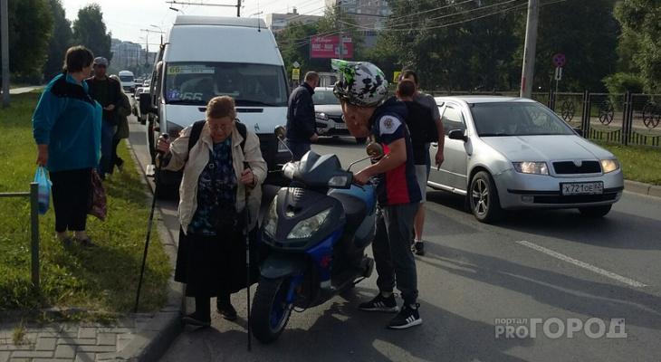 В Дашково-Песочне скутерист пытался скрыться с места ДТП