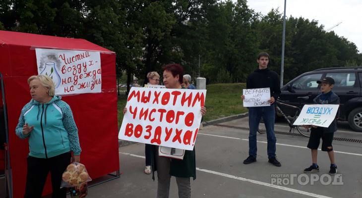 Более 10 человек вышли на пикет против вони в Дашково-Песочне