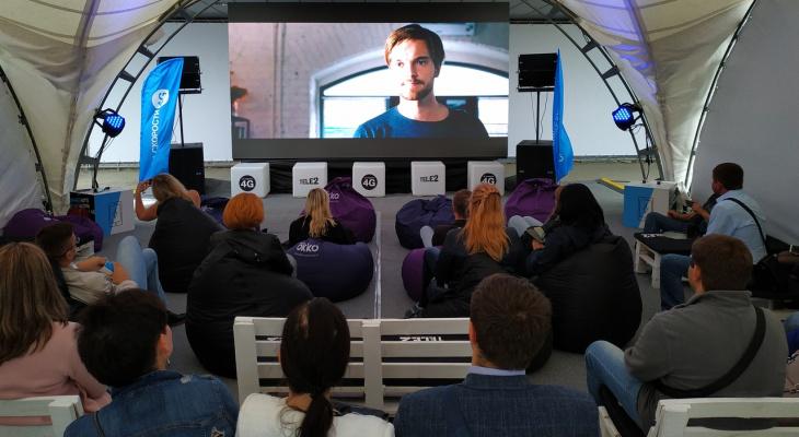 В Рязани открылся бесплатный кинотеатр под открытым небом