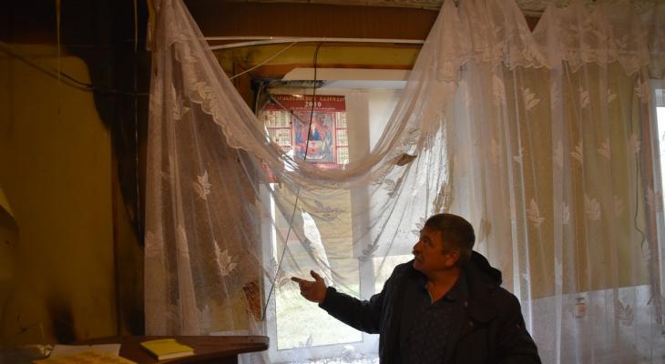 Молния ударила в административное здание Сасовского района