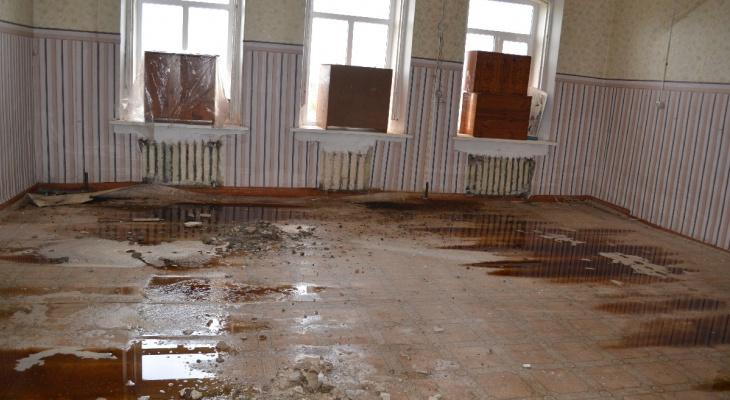 В Пронском районе затопило школу