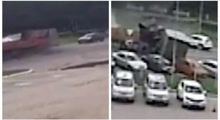 ДТП на Московском: в сети появилось видео, снятое в момент столкновения