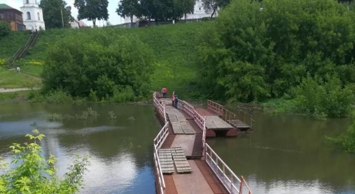 Паводок в Рязани: в реке Трубеж поднялся уровень воды