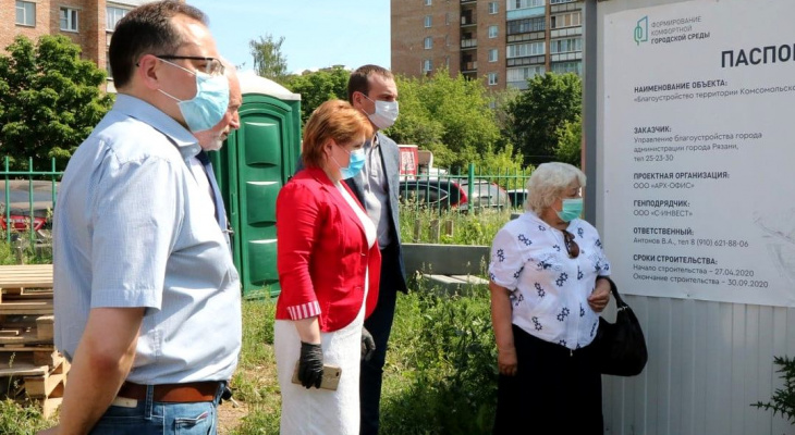 Благоустройство Комсомольского парка: депутаты гордумы проверили ход работ