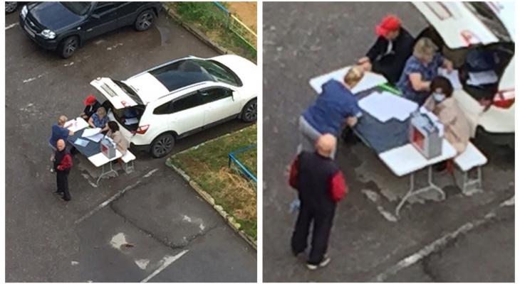 """В Московском районе сфотографировали голосование """"в багажнике"""""""