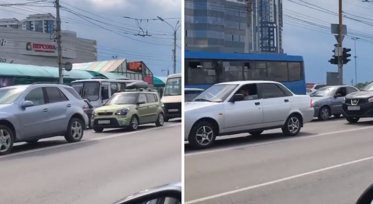 Видео: на Московском шоссе собралась огромная пробка