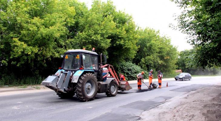 За неделю в Рязани реанимировали более  400 квадратных метров дорог