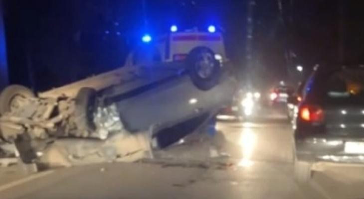 Есть пострадавшие: на окраине Рязани перевернулся автомобиль