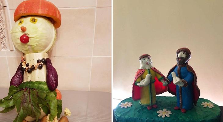 Кукла из овощей и венок из пробок: что делают рязанские малыши на конкурс осенних поделок