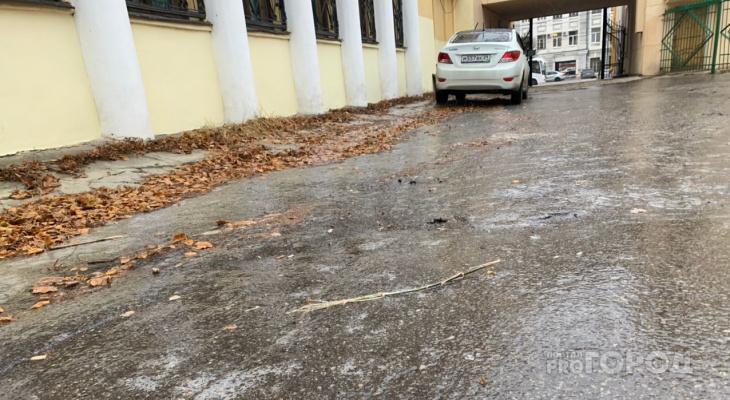 День травматолога: тротуары и дороги Рязани покрылись ледяной коркой
