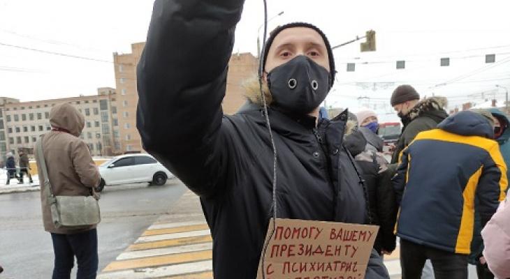 В Рязани во время протестов задержали психиатра Кирилла Сычева: его оштрафовали на 30 тысяч рублей