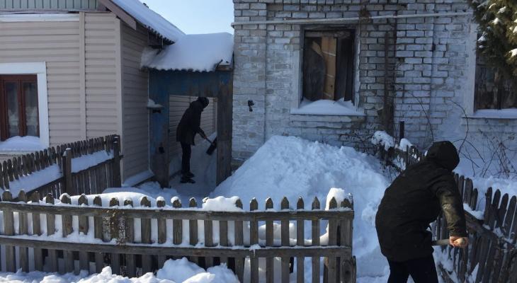 Как рязанцы боролись с последствиями снегопадов