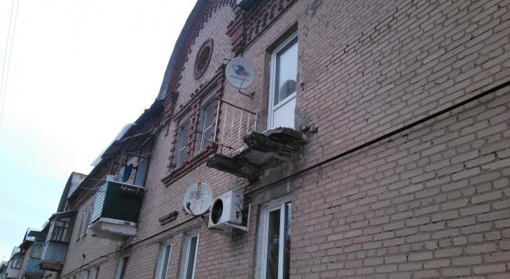 Никто не пострадал: у дома на Полетаева в Рязани рухнул балкон