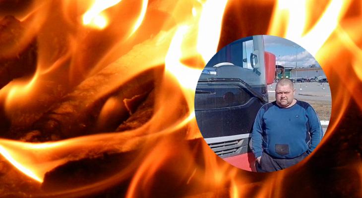 Едва не заполыхала: водитель маршрутки помог потушить загоревшуюся машину