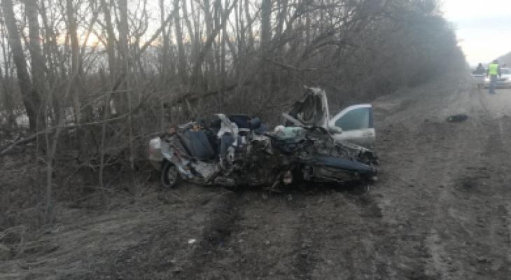 Новые детали: появились фото с места смертельной аварии в Рыбновском районе