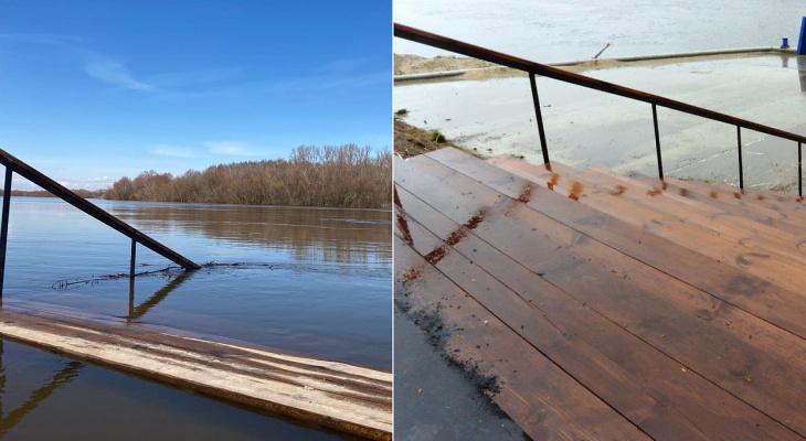Пристань в Лесопарке ушла под воду: видео