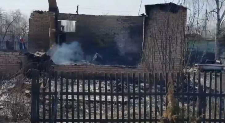Очередной пожар: огонь вспыхнул в Гулынках Спасского района