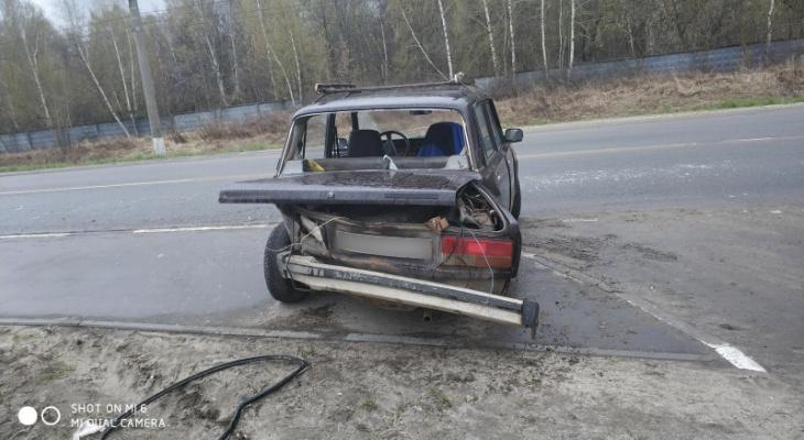 """Семерка"" вылетела на тротуар: в Дягилеве столкнулись две легковушки"
