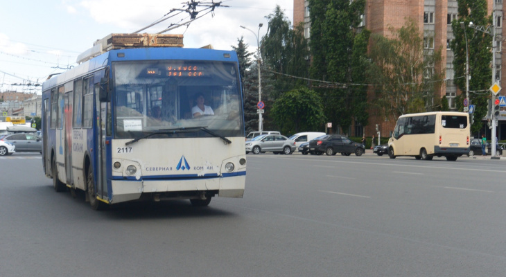На месяц: в Рязани временно отменят 4 троллейбусных маршрута