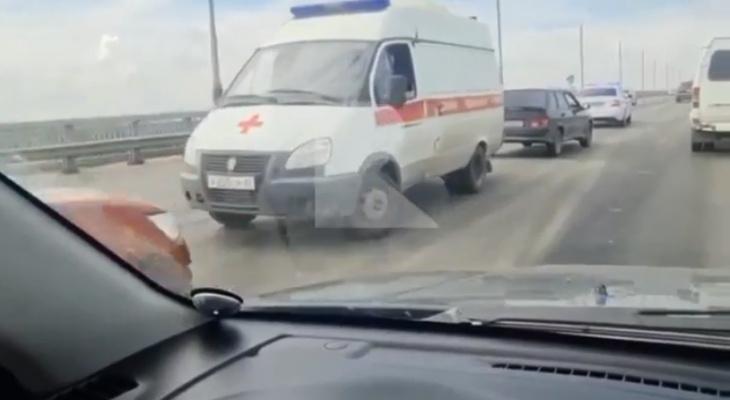 ДТП на Солотчинском мосту: столкнулись четыре машины