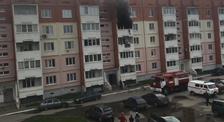 Без пострадавших: в Сасове полностью выгорела квартира