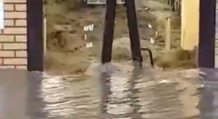 Июньский дождь: ливень затопил магазин в Рязани