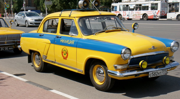 Раритет: в пятницу по Рязани пройдет колонна ретро-автомобилей ГАИ