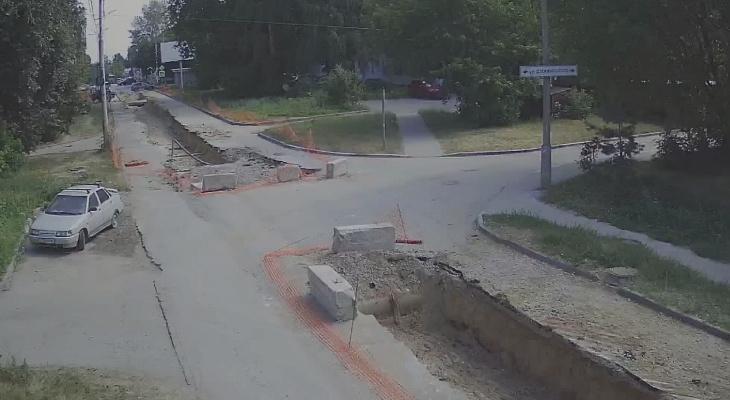 Контроль: за ремонтом участка на Татарской можно следить по камерам