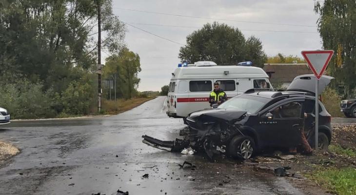Пострадал ребенок: в Михайловском районе столкнулись две легковушки
