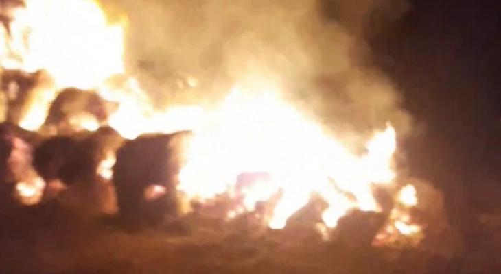 Под Рязанью произошёл пожар: загорелись тюки сена