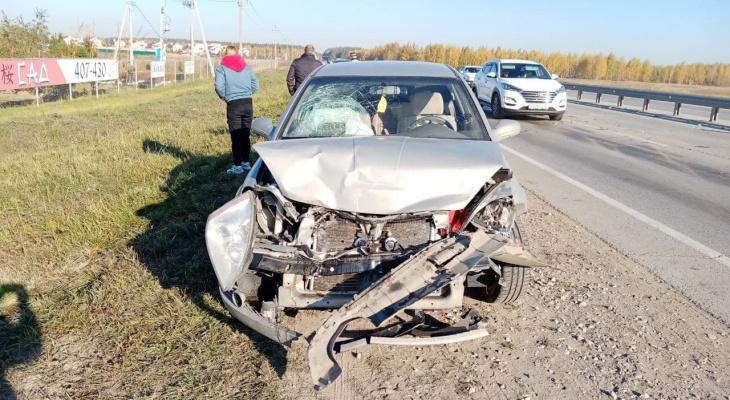 В Рязанском районе столкнулись две легковушки: трое детей получили травмы