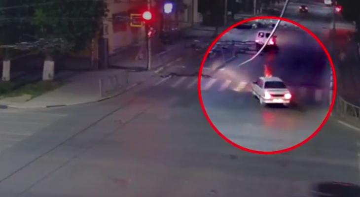 На улице Циолковского в Рязани сбили пешехода - видео