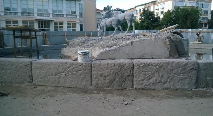 На Лыбедском бульваре украли часть фонтана