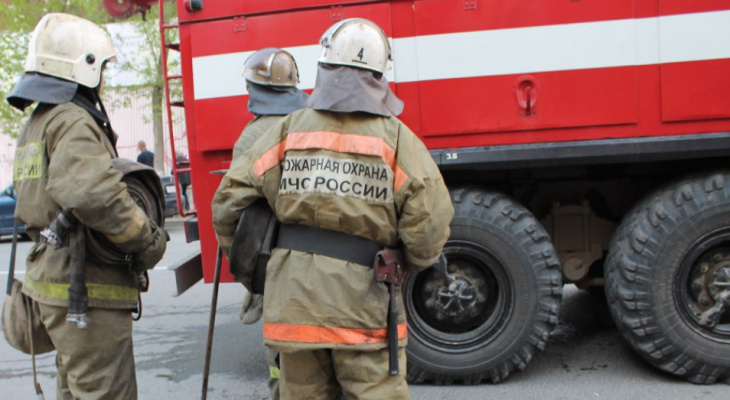 Ночью в Рязанской области загорелся автомобиль