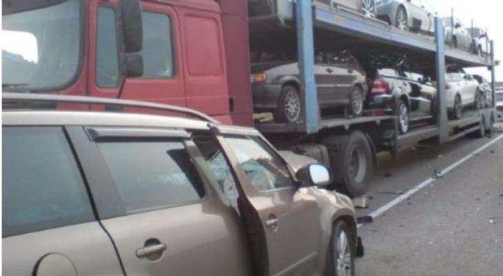 ДТП в Скопинском районе - столкнулись Шкода и МАН