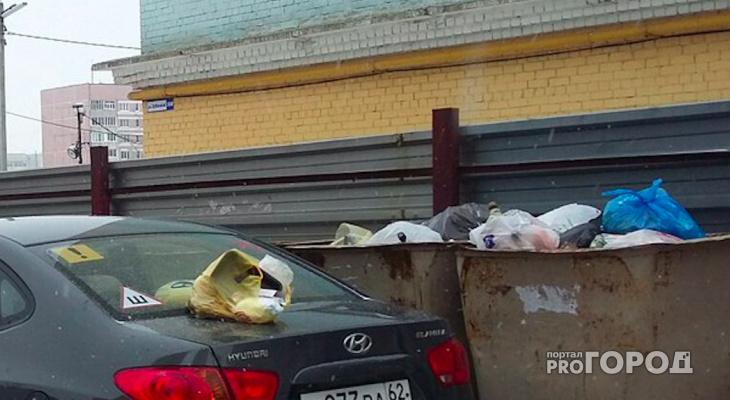 Герои парковки Рязани! Снова блокируется мусорная площадка