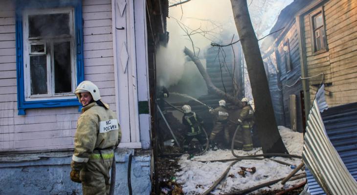 Жилой дом сгорел в Рязанской области