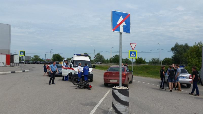 14-летний рязанец разбился на мотоцикле матери